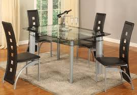 Black Glass Dining Room Sets Dining Room Glass Table 4 Chairs Set 4 Chair Dining Set Glass
