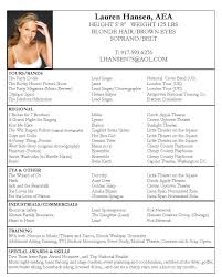 free exle of resume acting resume template adorable acting resume sle free fax