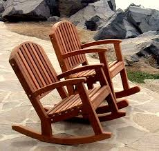 Wood Rocking Chair Moon Inspired Solid Wood Rocking Chair With Arching Backrest