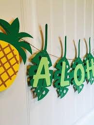 aloha banner pineapple decoration garland hawaii