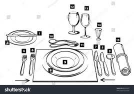 Formal Table Setting Diagram 45 Correct Table Settings Proper Table Setting Etiquette Napkin