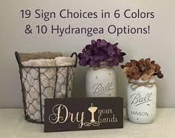 Hydrangea Bathroom Accessories by Chicken Bath Decor Etsy