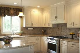 All White Kitchen Cabinets Kitchen Style All White Cabinets Chrome Handles French Country
