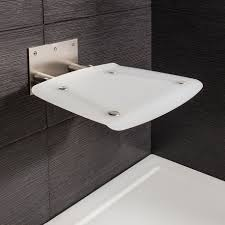Folding Shower Seat Square Wall Mounted Folding Shower Seat In Shower Seats Luxury