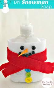 diy snowman soap dispenser craft crafts kid and soaps