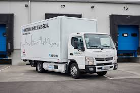 news from mercedes benz trucks fuso canter e cell makes its uk