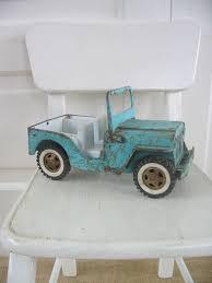 jeep kid vintage metal toy truck jeep aqua blue boy nursery decor kid child