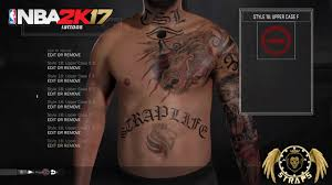 most unique and realistic tattoo tutorial nba2k17 youtube