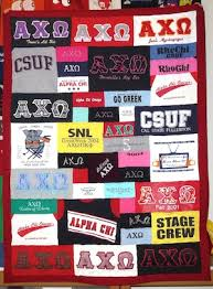 using greek letter t shirts in your sorority t shirt quilt