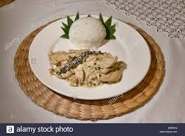 cuisine reunion creole cuisine of la reunion chicken piri piri stock photo