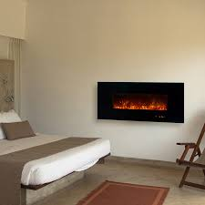 Wall Mount Fireplaces In Bedroom Ambiance Linear Wall Mount Electric Fireplace 58
