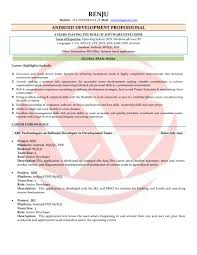 Sample Resume Senior Software Engineer by Android Developer Sample Resumes Download Resume Format Templates
