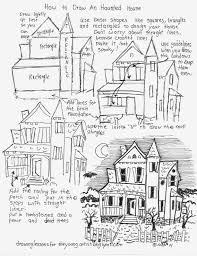 how to draw worksheets for the young artist how to draw a haunted