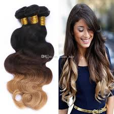 honey brown hair with blonde ombre brazilian 9a 1b 4 27 honey blonde ombre hair 3 bundles dark roots