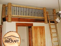 railings with metal balusters log craft inc