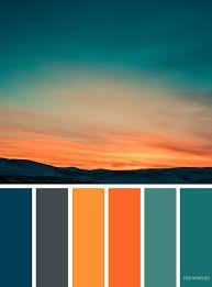 color combinations with orange orange teal sky inspired color palette landscape color scheme