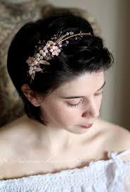 gold hair accessories gold hair band wedding headpiece pearl draped bridal crown