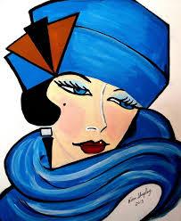 saatchi art artist nora shepley painting 1920 s faces art deco art