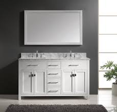 White Vanities Bathroom 60 Inch Double Sink Vanity Bathroom Cabinet U2014 The Homy Design