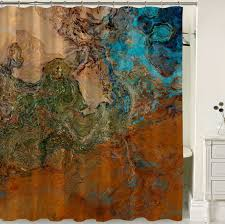 Southwest Shower Curtains Abstract Shower Curtain Southwest Shower Curtain Rust