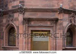 stock photograph of detail of building by charles rennie