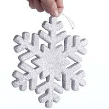 silver glittered snowflake ornament ornaments