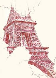 eiffel tower sketch art print by chelsea ward society6