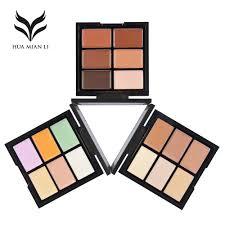 Color Concealer Aliexpress Com Buy Huamianli Brand 6 Color Concealer Palette
