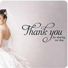 wedding celebration quotes thank you for our day wall decal wedding anniversary