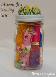 sew homegrown diy mason jar sewing kit the tween version