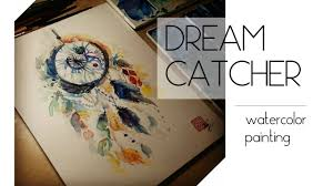 painting a dreamcatcher with watercolor youtube