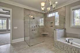 Master Bathroom Decorating Ideas Pictures Gray Mosaic Marble Wall Bath Panels Master Bathroom Shower Designs