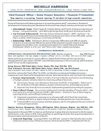 Finance Executive Resume Samples by Resume Samples Chief Financial Officer Cfo Non Profit Non Profit
