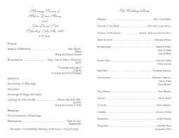 Wedding Ceremony Bulletin Template One Page Wedding Program Template Finding Wedding Ideas