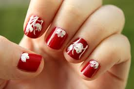 simple red nail art images nail art designs
