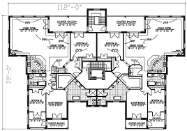 two apartment floor plans stately apartment house plan 90155pd architectural designs