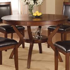 Coaster Dining Room Sets Shop Coaster Fine Furniture Nelms Wood Round Dining Table At Lowes Com