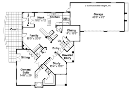 first floor in spanish mediterranean house plans pasadena 11 140 associated designs