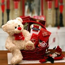 teddy valentines day be mine valentines day teddy gift basket by gift baskets etc