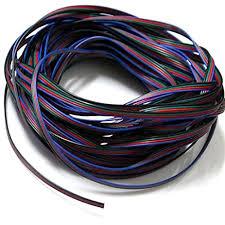 evz 4 color 10m rgb extension cable line for led strip rgb 5050