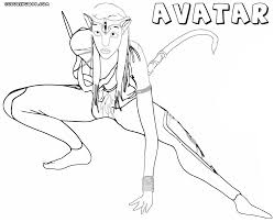 avatar coloring pages fleasondogs org