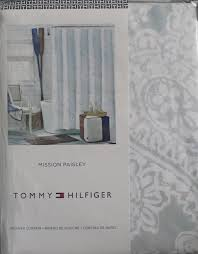 Tommy Hilfiger Wallpaper by Amazon Com Tommy Hilfiger Fabric Shower Curtain Mission Paisley