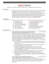 Resume Sample Executive by One Page Resume Sample Executive