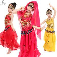 Baju Anak India kinder kleid bauchtanz set weibliche m磴dchen indischen tanz