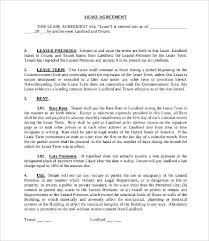 commercial tenant lease agreement template 11 simple commercial