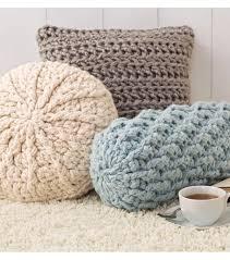 knit home decor cozy crochet pillows joann
