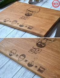 breaking bad custom engraved cutting board let u0027s cook anniversary