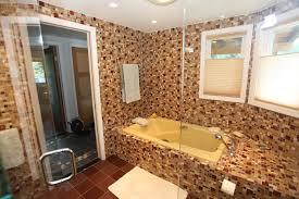 earth tone bathroom designs bardfield residence warm hybrid bathroom