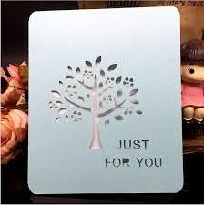 laser cut tree customizable theme party invitation cards light