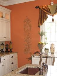 orange kitchen ideas kitchen excellent ideas for kitchen decoration using stencil